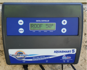 Pool heating system controller