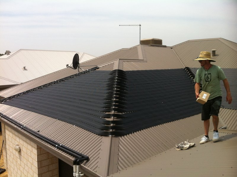 Baldivis, WA.  Pure Pool Heating solar heating install.