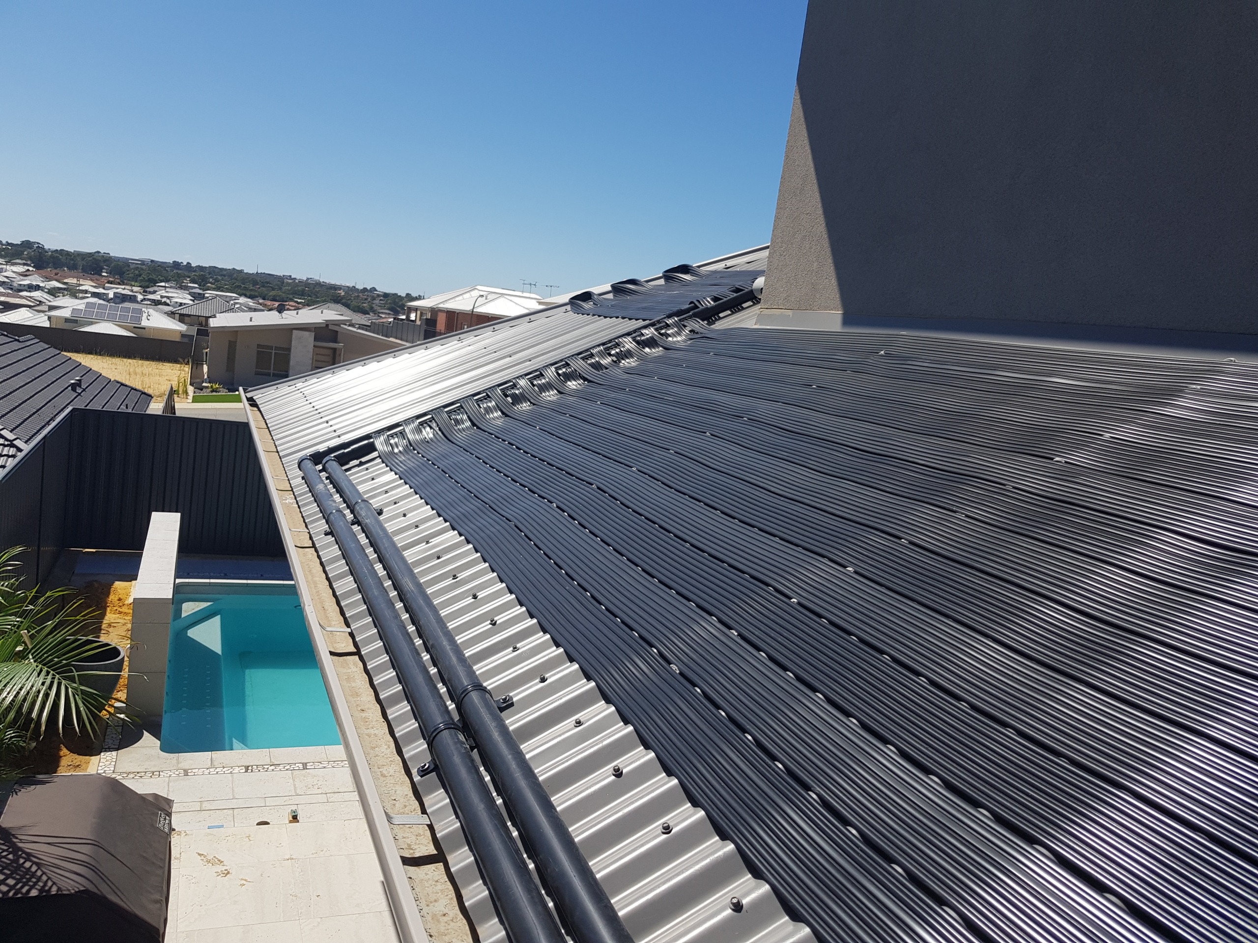 Swimming pool heated with solar power in Coogee