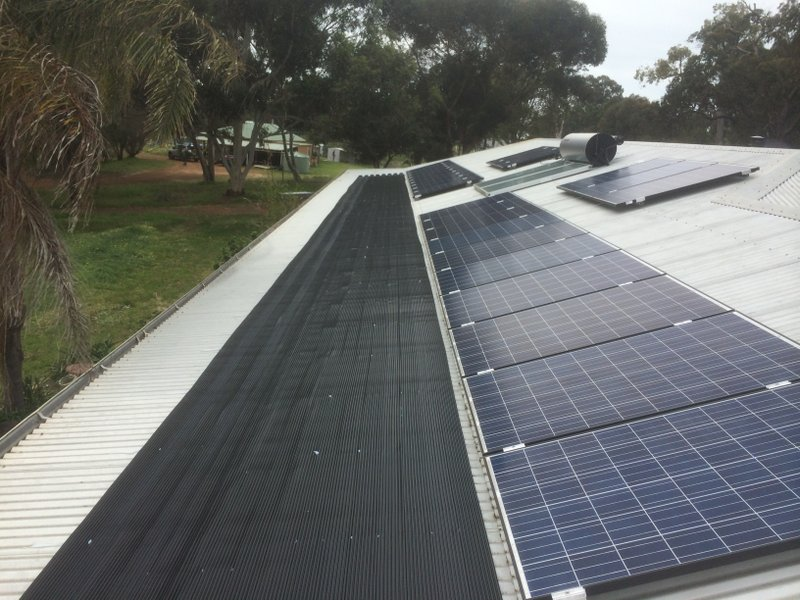 Muchea, WA.  Cost effective solar pool heating installation.