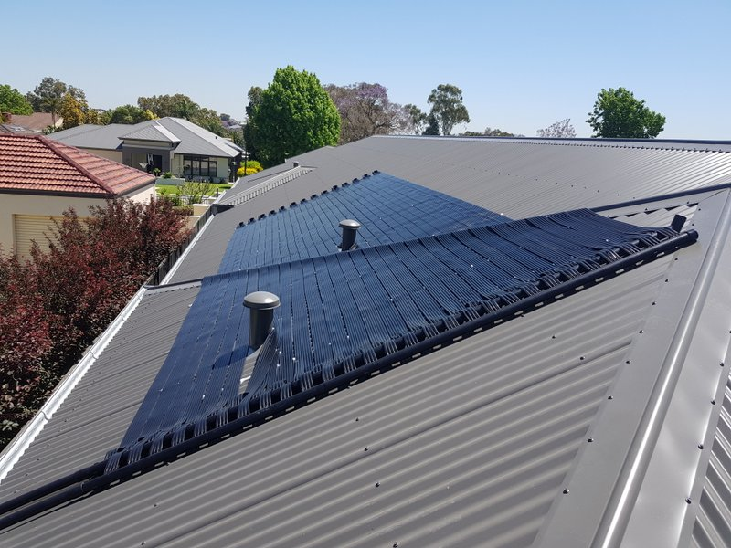 Shelley solar heating for swimming pool