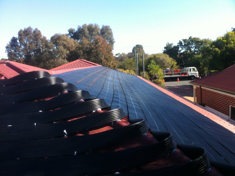 solar pool heating install in The Vines