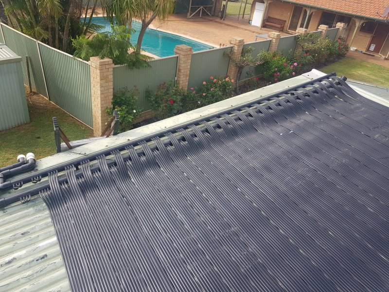 Repairs to solar heating system matting
