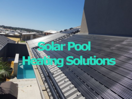 Solar swimming pool heating systems installed.