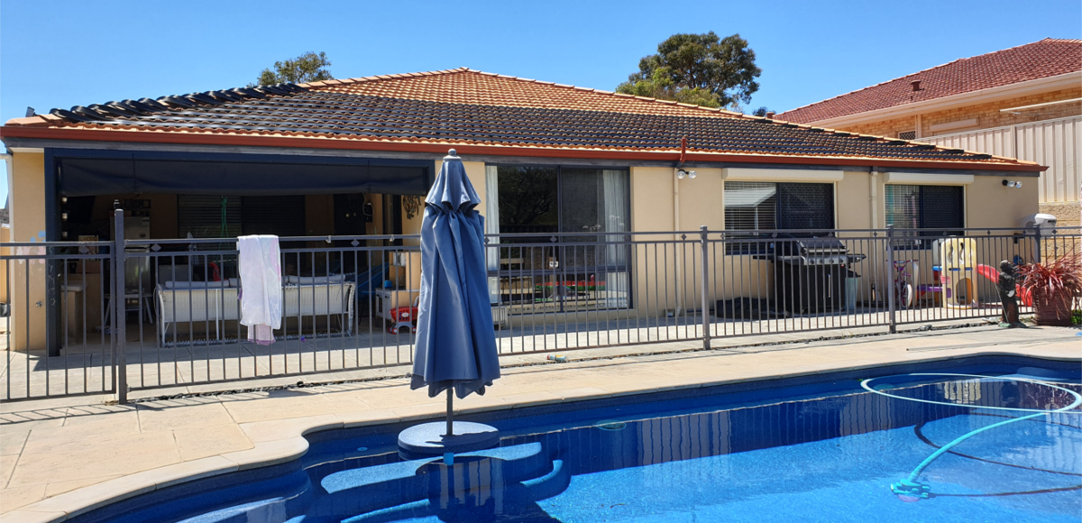 Solar pool heating installation Bibra Lake WA