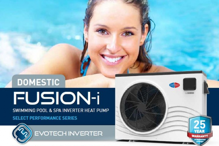 Evi Fusion-i pool and spa heat pumps with new inverter technology.